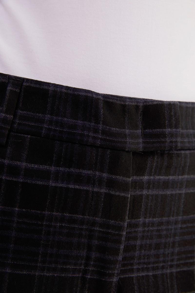 Cappellini Woll-Hose mit Glencheck Blau/Multi