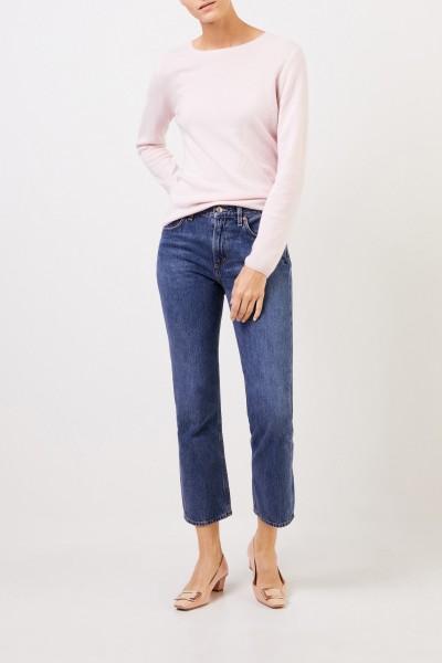 UZWEI Cashmere-Pullover mit R-Neck Rosé