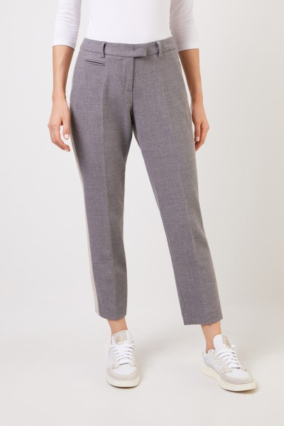 Seductive Pants with stripe details 'Vicky Stripe' Grey/Beige