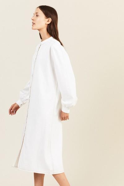 Jeanskleid Weiß