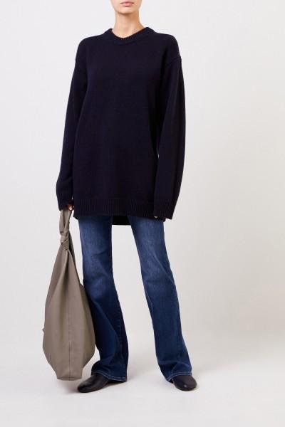 Langer Cashmere-Pullover 'Vaya' Marineblau