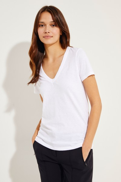 V-Neck T-Shirt Weiß