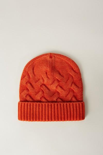 Cashmere-Mütze 'Alma' Orange