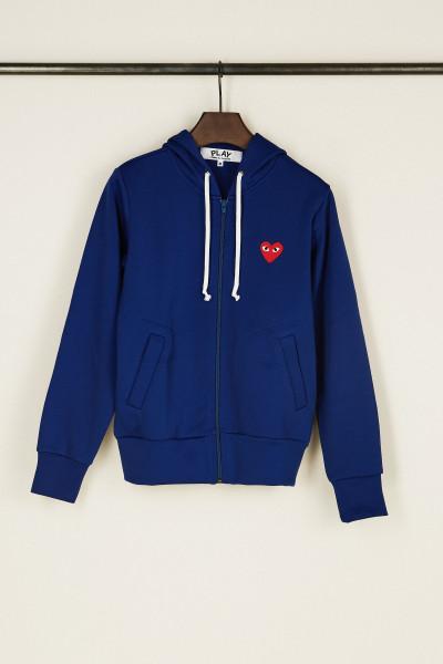 Sweatjacke mit Herz-Emblem Blau