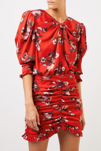 Magda Butrym Silk dress 'Barletta' with floral print Red/Multi