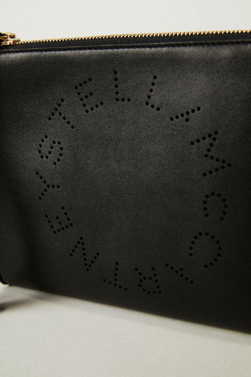 Clutch mit Logo-Detail Schwarz