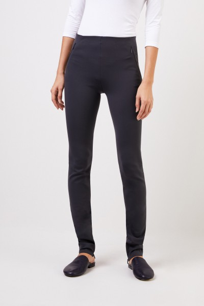 The Row Elastic trousers 'Corza' with zipper detail anthracite