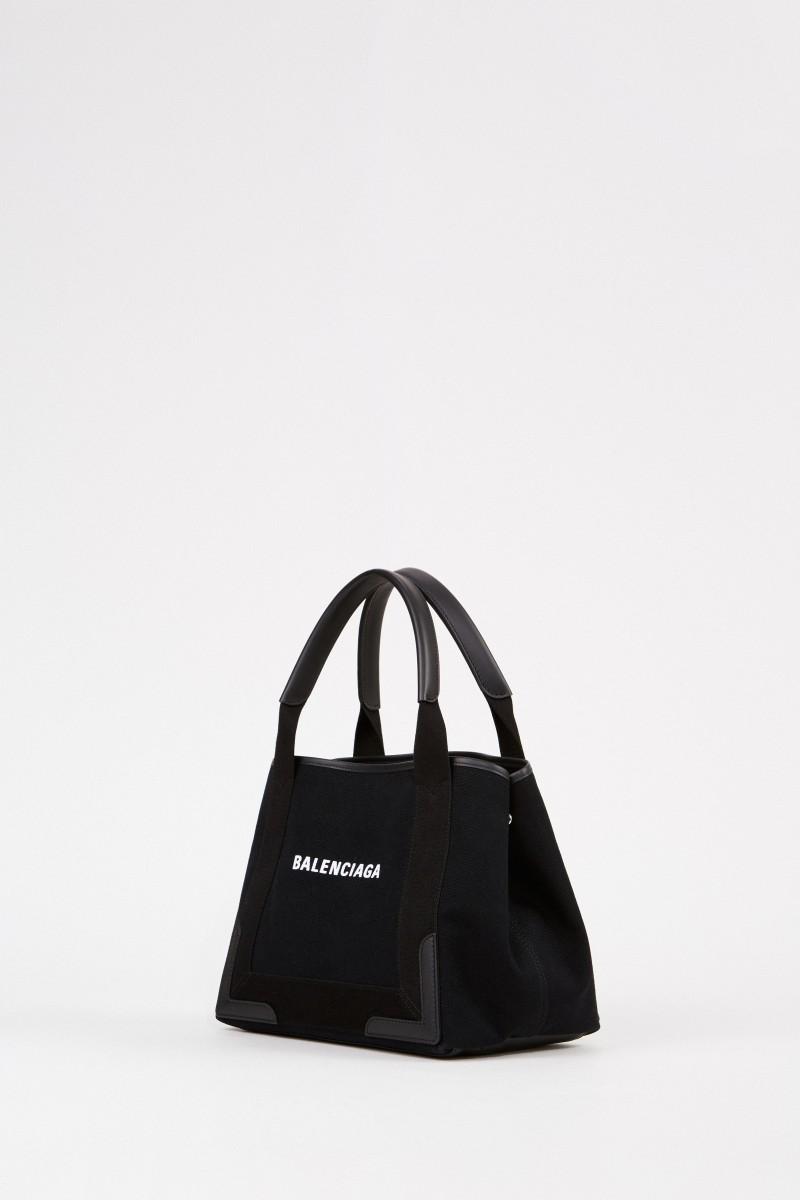 Shopper mit frontalem Logo-Detail Schwarz
