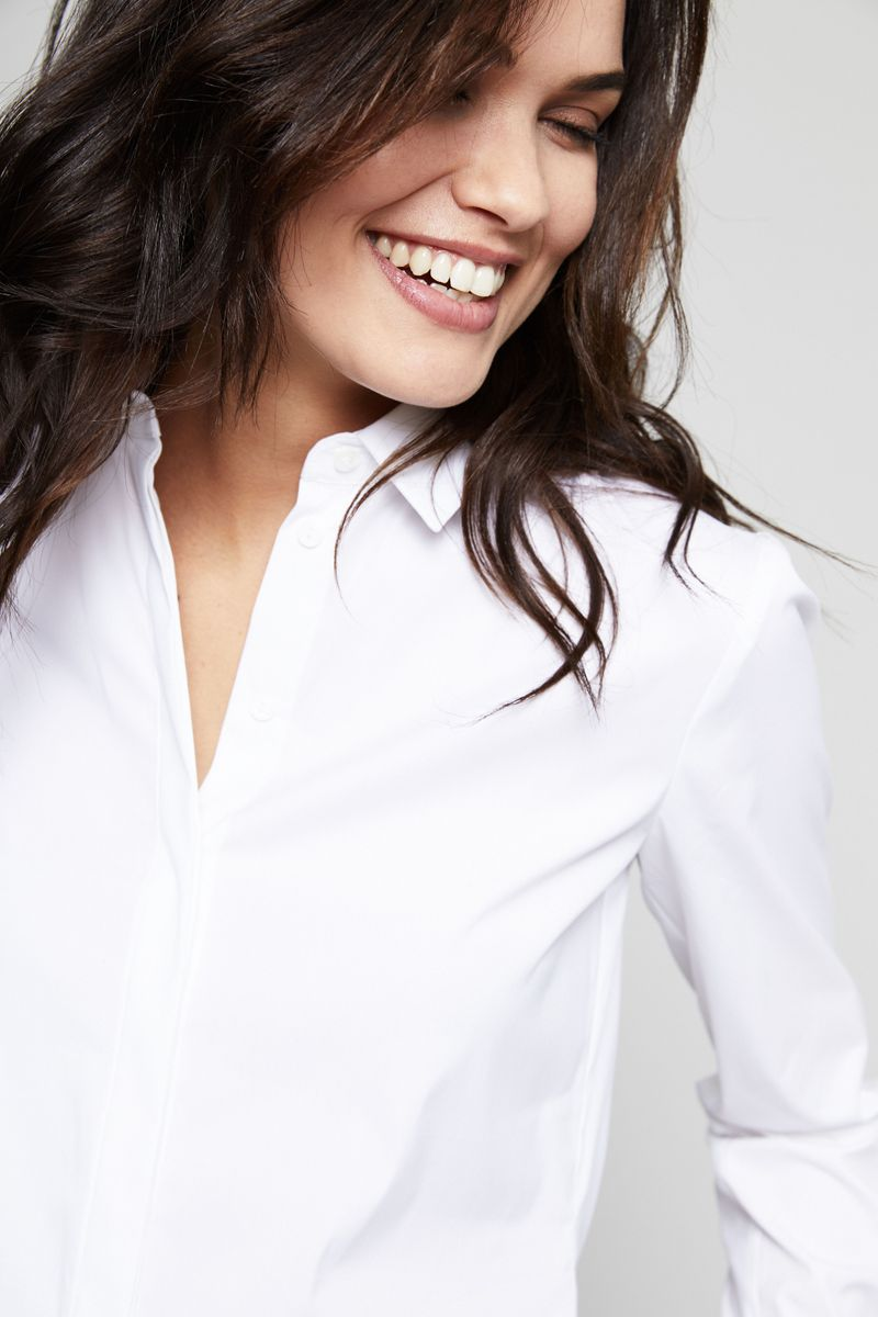 Klassische Bluse Weiß