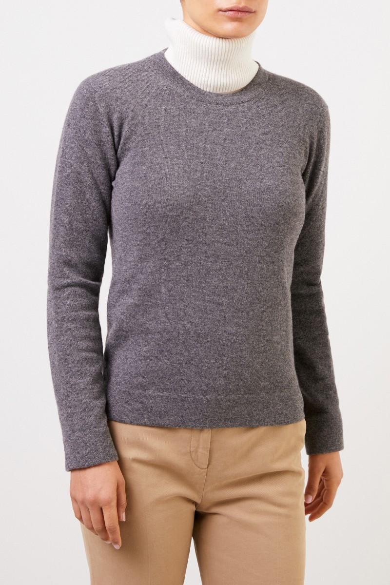 Agnona Klassischer Cashmere-Pullover Grau