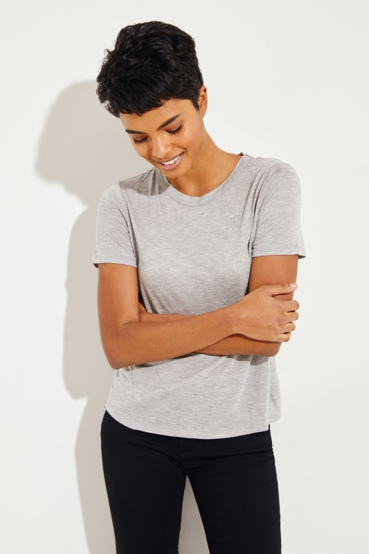 T-Shirt 'Lauren' Grau