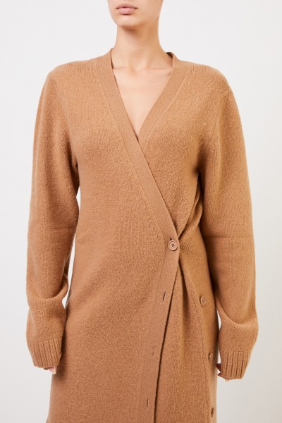 Bottega Veneta Long wool cardigan Light Brown