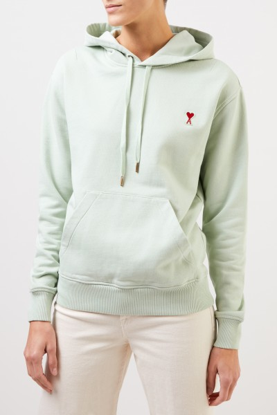 Ami Hoodie with logo detail Pale green