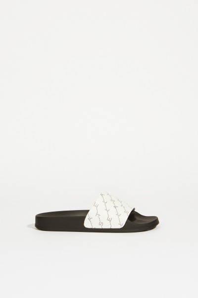 Sandal with logo lettering White/Black