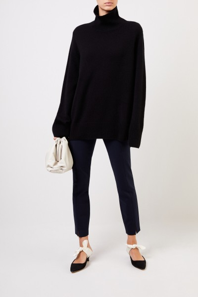 Stretch-Pants 'Sorocco' with slit detail Navy