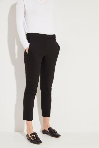 Baumwoll-Hose mit Perlenverzierter Schlaufe Schwarz