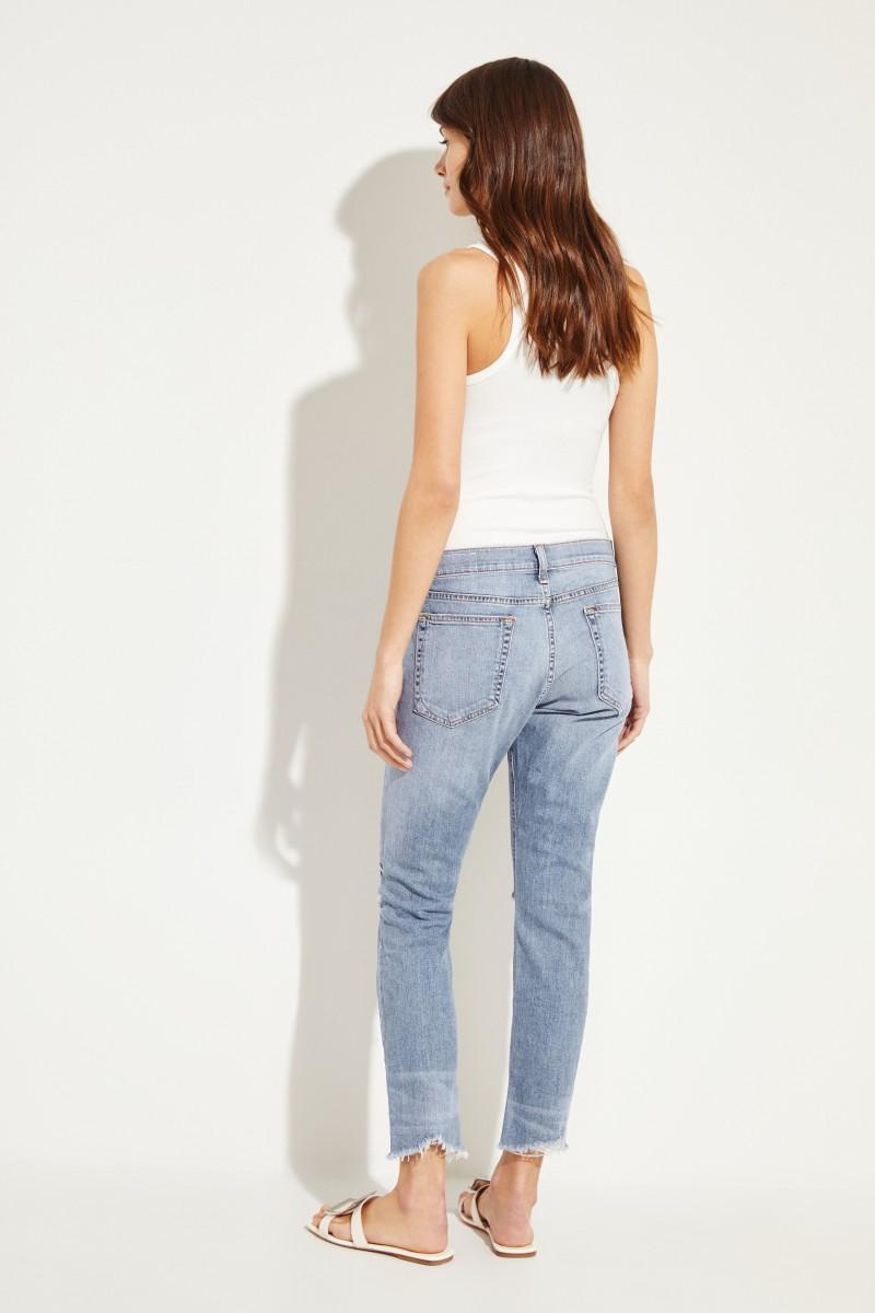 Jeans 'Ankle Dre' im Used-Look Blau