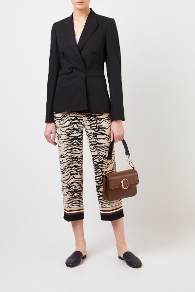 Pants 'Claire' with tiger-print Beige/Multi