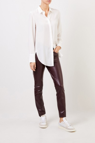 Classic leather trousers 'Ray' Bordeaux