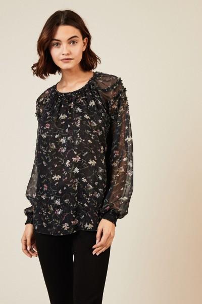 Bluse mit floralem Muster Multi