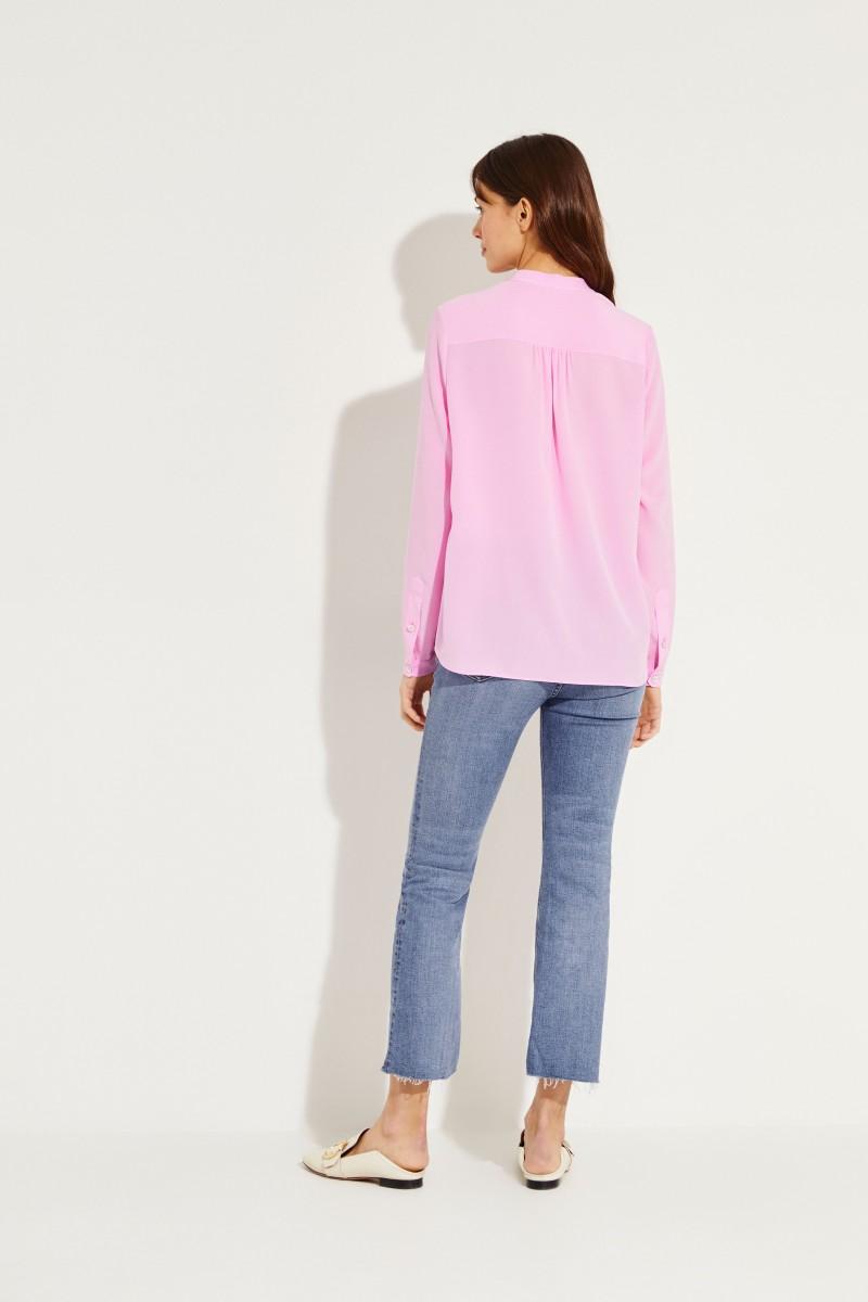 Seiden-Bluse Pink
