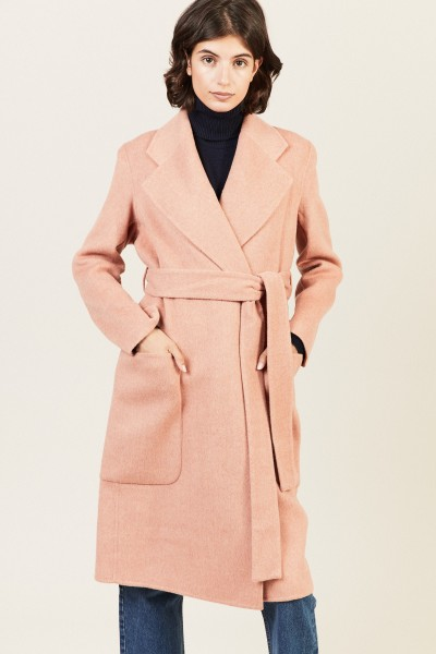 Woll-Cashmere-Mantel 'Carice' Rosé