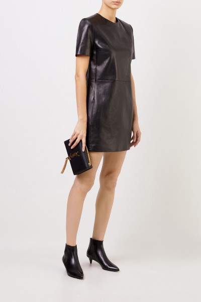 Classic Leather Dress Black