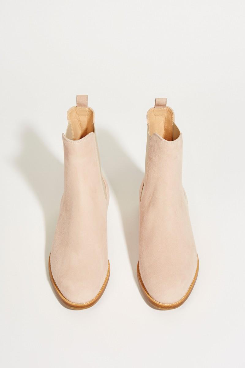 Veloursleder-Chelsea-Boot Rosé