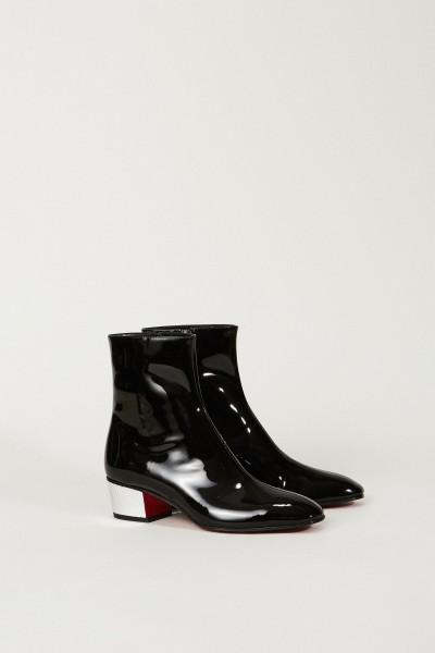 Lackleder-Stiefelette 'Palace Boot' Schwarz