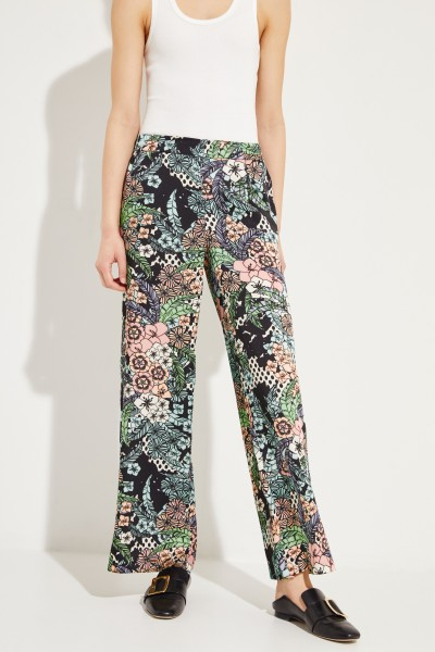 Fließende Hose mit floralem Muster 'Rosanne' Multi