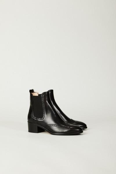 Klassischer Chelsea-Boot Schwarz