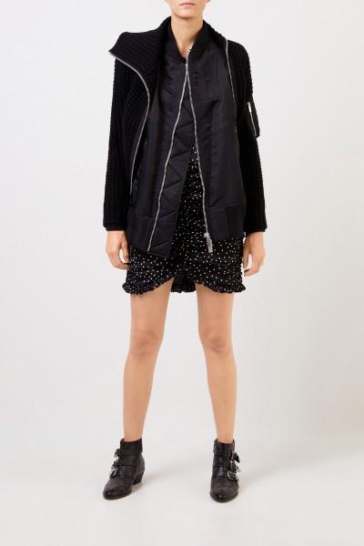 Bomber wool jacket Black