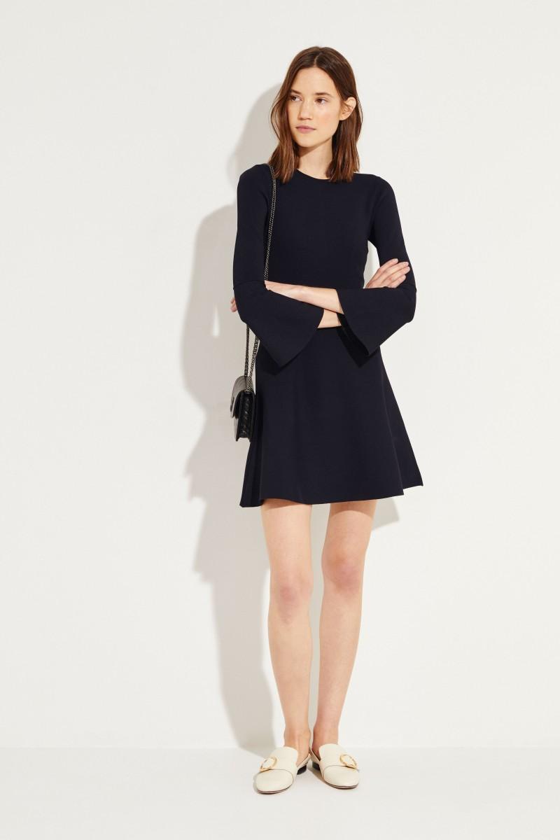 Strick-Kleid Blau