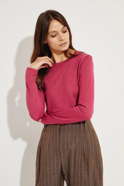 Cashmere-Seiden-Pullover Magenta