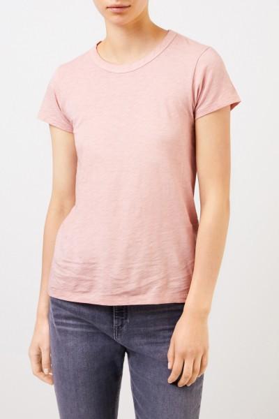 Rag&Bone Baumwoll-Shirt 'The Tee' Rosé