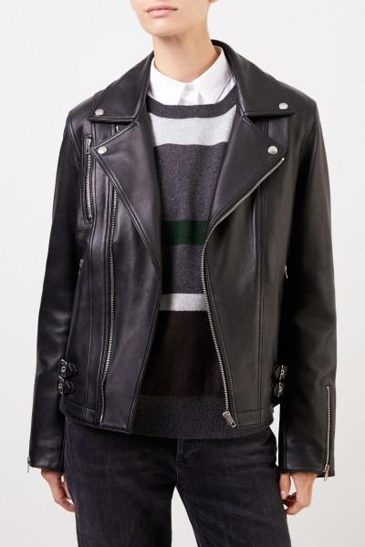 Joseph Lambskin jacket with zippers Black