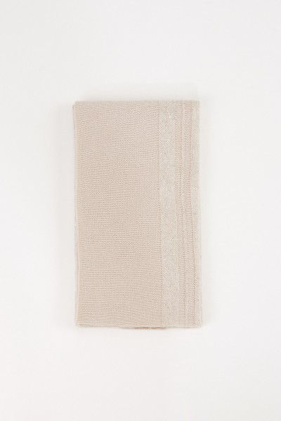 Fabiana Filippi Cashmere Scarf with Sequined Decoration Beige