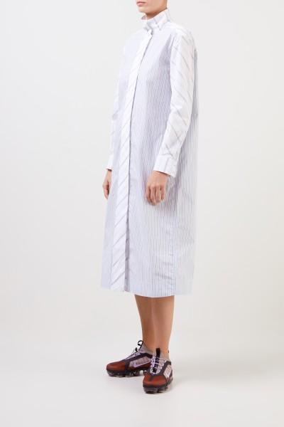 Ganni Hemdblusenkleid mit Streifen in Blau/Weiß