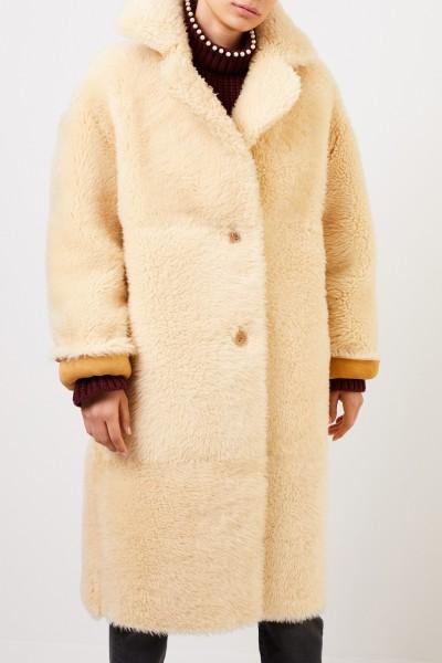 Furry Reversible Lambskin Coat Camel