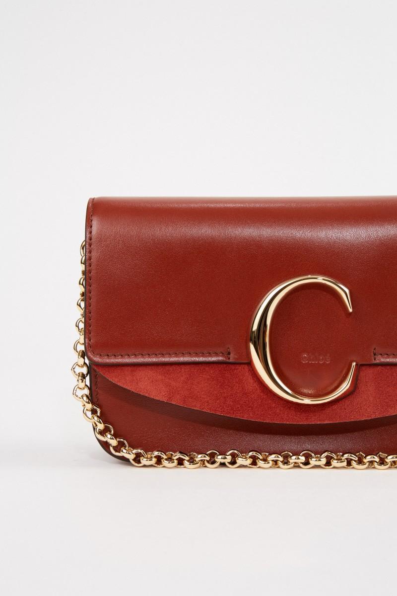 Chloé Umhängetasche 'C on chain' Sepia Brown