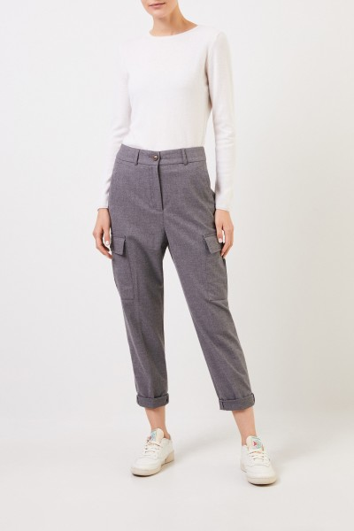 Cappellini Cargo pants with hem cover Grey Melange