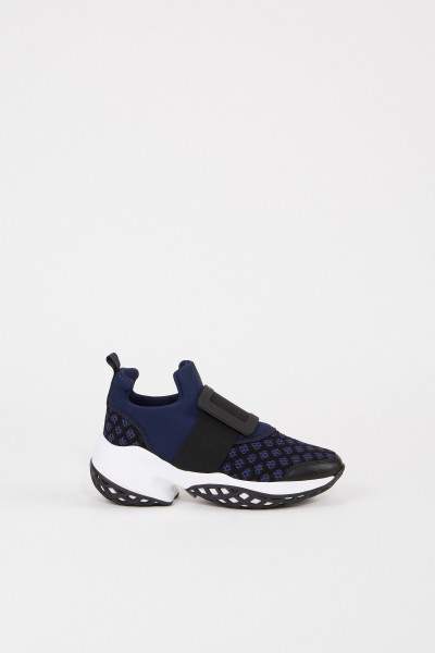 Roger Vivier Sneaker 'Viv' with buckle Blue/Black