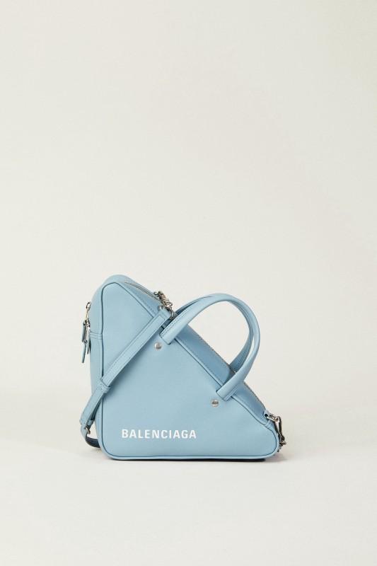 Geometrische Tasche 'Triangle' Blau
