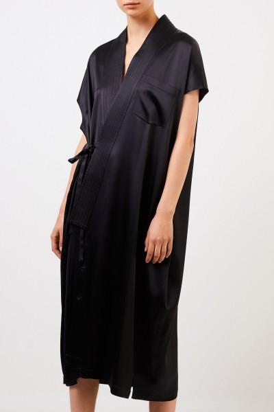 Balenciaga Long wrap dress Black