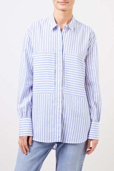 Louis and Mia Classic blouse with stripes Blue/ White
