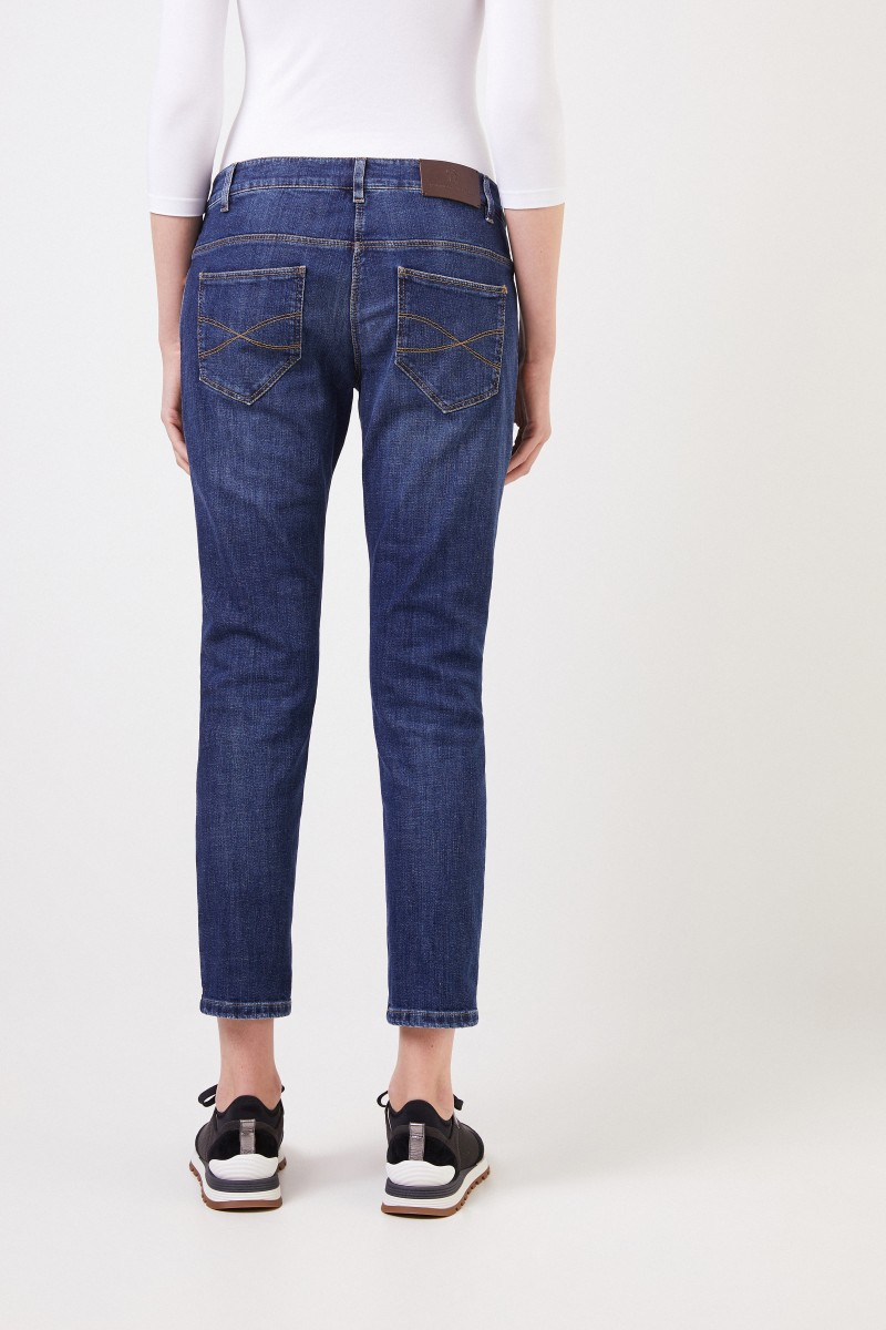 Brunello Cucinelli Slim-Fit Jeans Blau