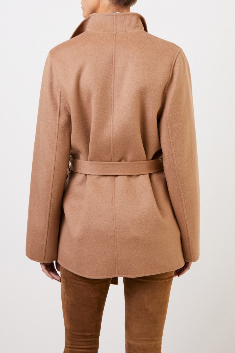 Woll-Cashmere-Mantel Camel