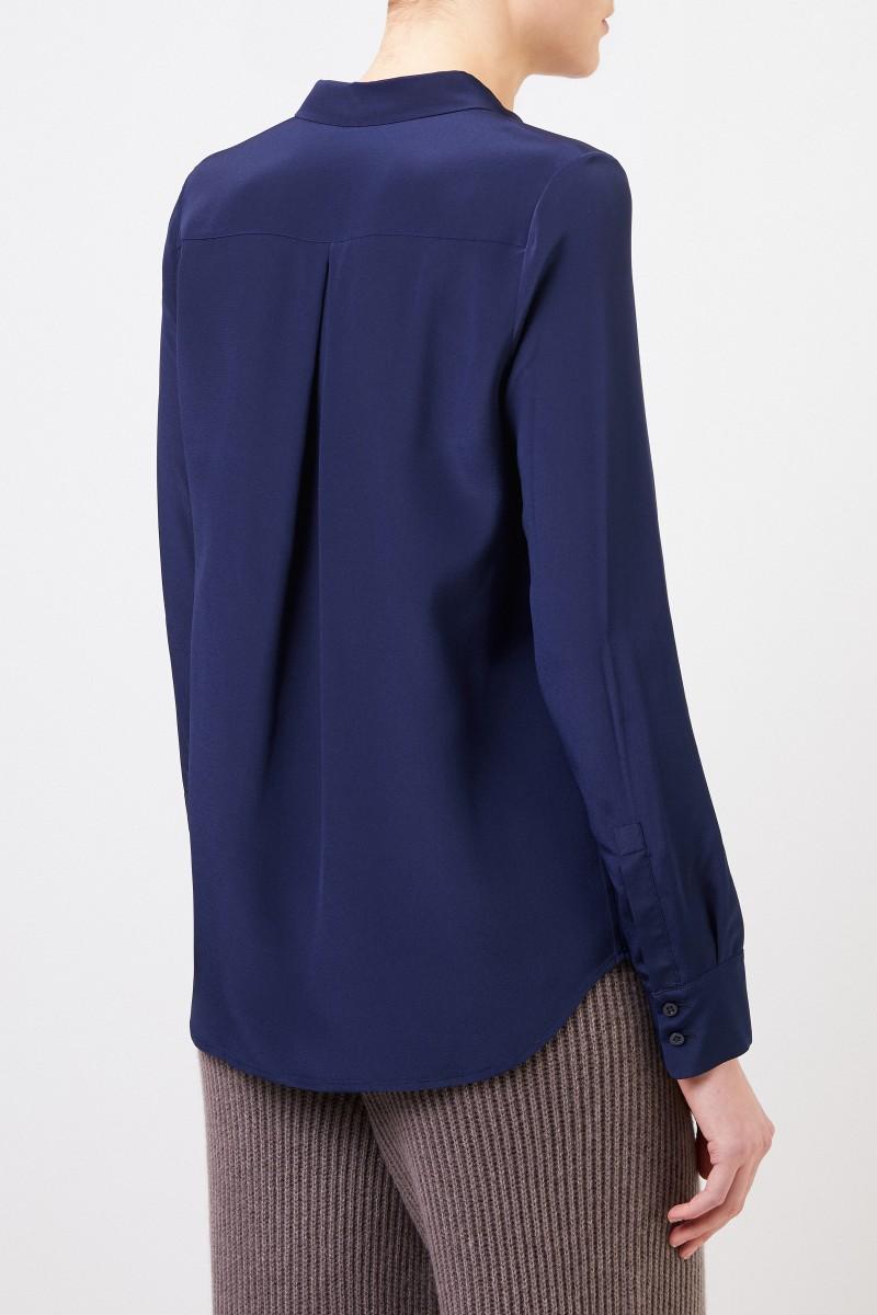 Iris von Arnim Seiden-Bluse 'Madelina' Marineblau