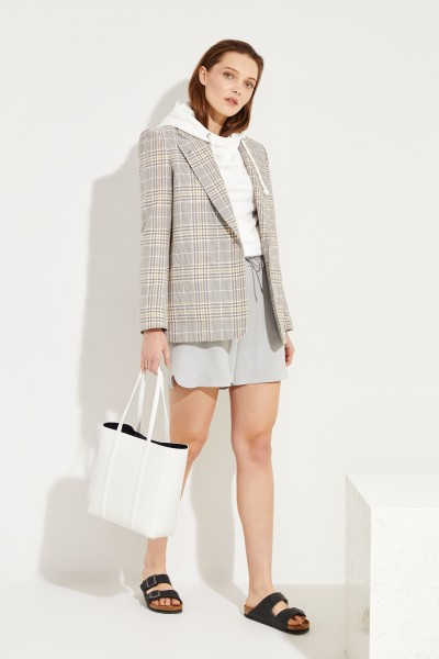 Seiden-Shorts Grau