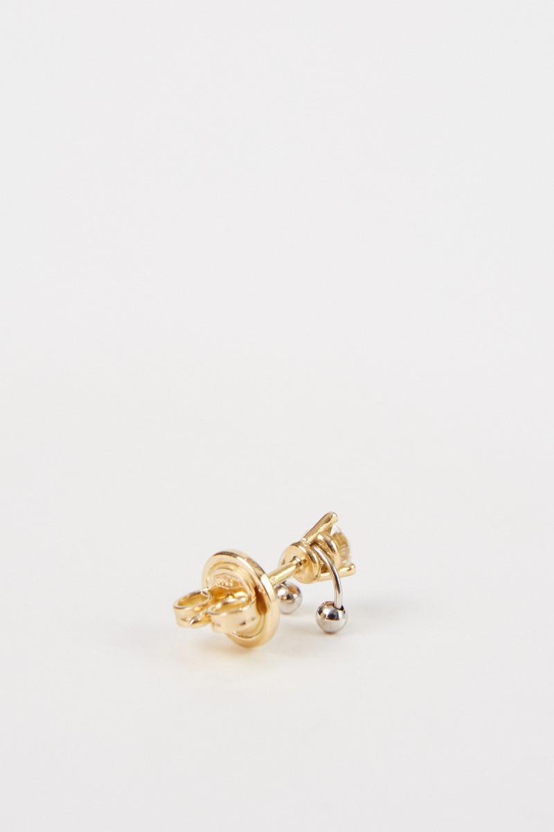 Delfina Delettrez Ohrring 'Two In One' mit Diamant Gold